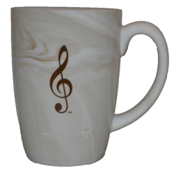 Aim/Albert Elov Marbelized Brown G Clef Mug