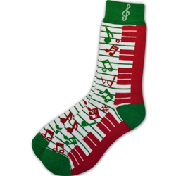 Aim/Albert Elov Ladies Socks Red Green Keyboard