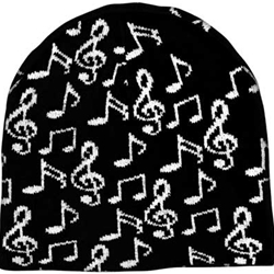 Aim/Albert Elov Black White G Clef Beanie