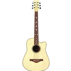 Daisy Rock Bleach Blonde Short Scale Acoustic Guitar