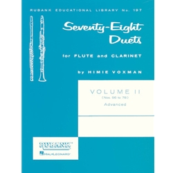 78 Duets for Flute & Clarinet, Vol. 2