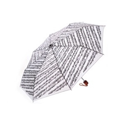 Aim/Albert Elov Mini Umbrella - White with Black Music