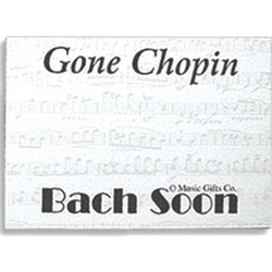 Music Gifts Cmp Post it Notes - Gone Chopin Bach Soon